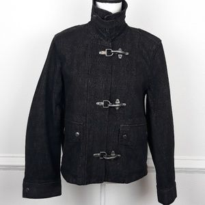 LAUREN JEANS CO. HEAVY BLACK DENIM JACKET